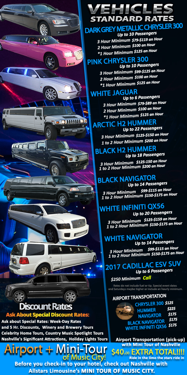 Affordable Limo Rates Allstars Limousine